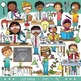 STEM / STEAM Clip Art Bundle 1: Middle School - Teen Kids and Science