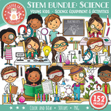 STEM / STEAM Clip Art Bundle 1: YOUNG KIDS & Science