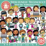 STEM / STEAM Clip Art Bundle 2: YOUNG KIDS & Technology