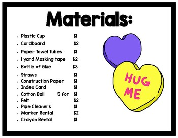 STEAM Challenge: A Box of Hearts (Printables) Valentine, Area, Volume, and Candy