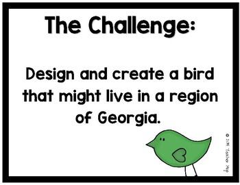 STEAM Challenge Bird Adaptations (Printables) GA 3rd Grade Science