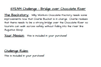 STEAM Challenge - Bridge over Chocolate Rivers (STEM)