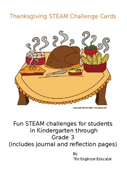 STEAM Challenge Cards for Thanksgiving