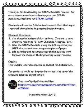 STEAM Challenge Foldable FREEBIE