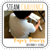 STEAM Challenges: NO PREP PAPER TOWER Distance Learning {E