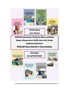 STEAM Class Curriculum - Engineering Focus - 115+ Hours 374 Pages