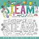 STEAM Clip Art Letters (Science, Tech, Engineering, Arts Math)