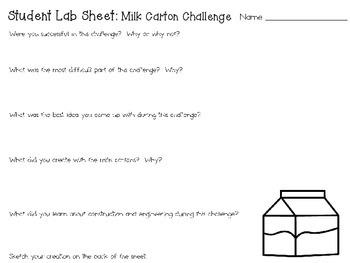 STEAM Construction Challenge:  Milk Carton Sculptures ~ Quarterly STEM Project