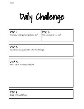 STEAM Daily Challenge Sheet