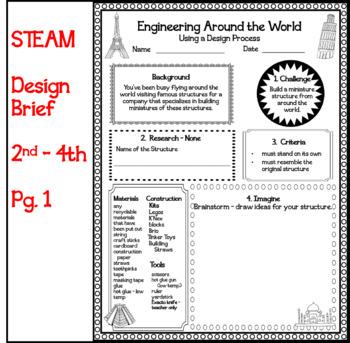 STEAM: Design Brief Engineering Around the World 2nd - 4th