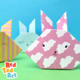 STEAM Easter Project - Origami Bunny -also Valentine's Car