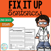 STEAM Editing Sentences: Second Grade, Capitalization, Pun