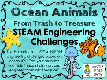 STEAM Engineering Challenge Pack ~ Ocean Animals: From Trash to Treasure
