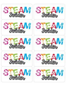 STEAM Folder/Journal Labels