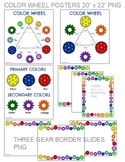 STEAM Gear Color Wheel with Gear slides and Gear paper