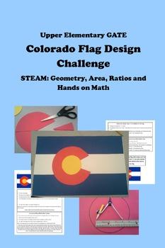 STEAM Geometry, Area, Ratios, Hands-on Math COLORADO FLAG