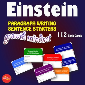 Luminaries -  Growth Mindset Paragraph Writing Sentence Starters EINSTEIN