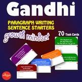 Luminaries-NO PREP-Growth Mindset Paragraph Writing Sentence Starters GANDHI