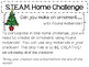 STEAM Home Challenges for Every Month ~ 18 Project Sheets for the Year!