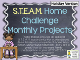 STEAM Home Challenges for Every Month ~ 18 Project Sheets