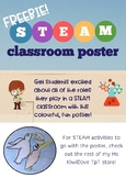 "STEAM ""In this classroom, we are..."" poster FREEBIE"