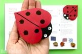 STEAM Ladybug Bookmark Corner (3 Pages) - Spring, Summer &