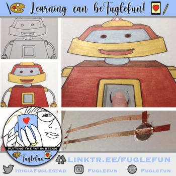 STEAM Lesson: Light Up Paper Circuit Robot Painting