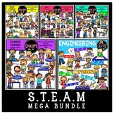 STEAM Clip Art Mega Bundle {Educlips Clipart}