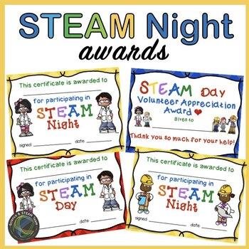 STEAM Night Participation Awards
