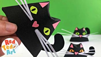 STEAM Paper Cat Finger Puppet & Decor for HALLOWEEN