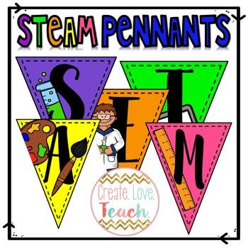 STEAM Pennant Flags - Print & Go!
