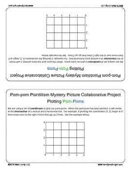 FAMILY MATH NIGHT:  Pom-pom Pointillism Collaborative Project