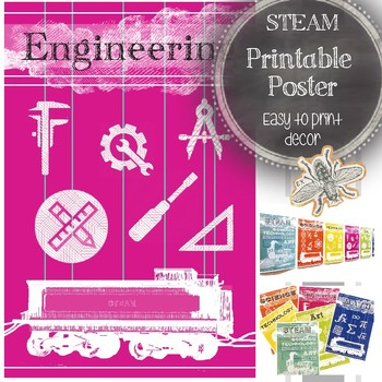 STEAM Printable Poster: Engineering Classroom Decor