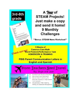 STEAM Projects for a YEAR!  Just Copy and Send HOME! (STEM)