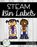 STEAM/STEM Bin Labels- Simply Stylish Theme