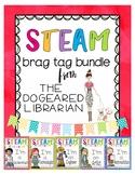 STEAM & STEM Brag Tag Reward Bundle for Library or Classroom