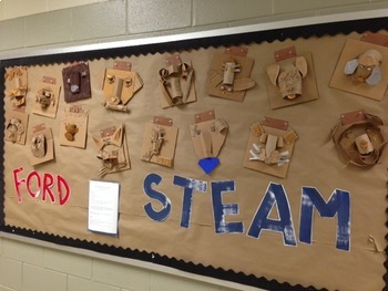 STEAM / STEM Cardboard Face Sculptures!