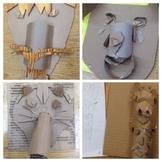 STEAM/STEM Cardboard Face Sculptures + VIDEO DOWNLOAD + LINK
