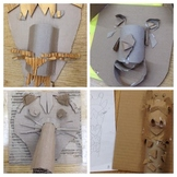 DISTANCE LEARNING STEAM/STEM Cardboard Face Sculptures VID