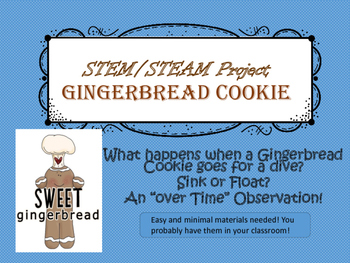 STEAM/STEM Challenge Gingerbread Cookie Sink or Float