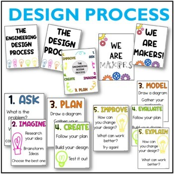 STEM Posters - STEAM / Design Process / Makerspace