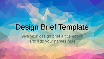 STEAM / STEM / Engineering Design Brief Template