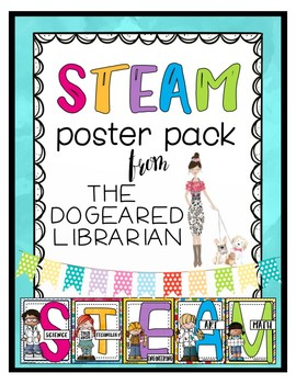STEAM & STEM Learning Lab Makerspace Posters | Bright & Fun