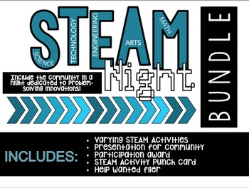 STEAM/STEM Night Bundle - Editable!