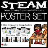 STEAM (STEM) Poster Set: Engineering Process & Innovator 21st Century Skills