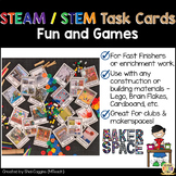STEAM / STEM Task Cards: Fun and Games