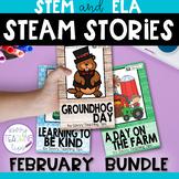 STEAM STORIES BUNDLE, STEM and ELA,  February Holidays