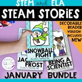 STEAM STORIES BUNDLE, STEM and ELA,  January Holidays