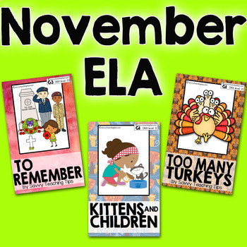 STEAM STORIES BUNDLE, STEM and ELA,  November Holidays
