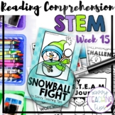 STEAM STORIES - STEM and ELA together - Week Fifteen Snowball Fight